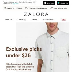 [Zalora] You don't need to break the bank to look like a million