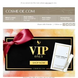 [COSME-DE.com] VIP 20% off: , FREE Marc Jacobs Perfume with purchase!