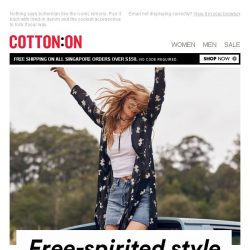 [Cotton On] Free-spirited style
