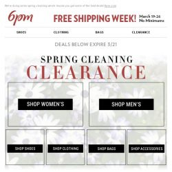 [6pm] Spring Cleaning Clearance: going, going, gone!