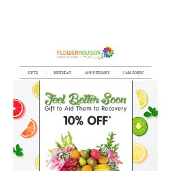 [Floweradvisor] Thinking of a healthier choice to cheer your loved ones up?