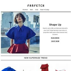 [Farfetch] Spring's new super-sizing trend