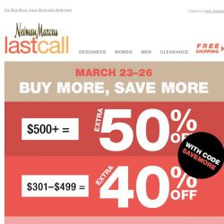 [Last Call] It's no secret: up to 50% off entire purchase >> here's how