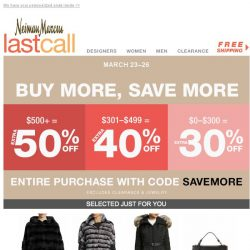 [Last Call] Best email ever: It's time to save more! (Exclusive offer)