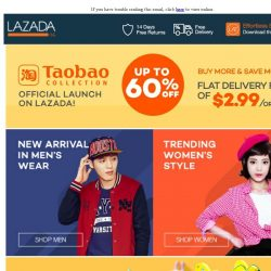 [Lazada] Taobao Collection Now Officially On Lazada! Shipping fee at just $2.99/order