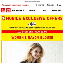 [UNIQLO Singapore] ALL IN! Get your Mobile Exclusive Offers now.