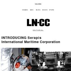 [LN-CC] Serapis (ΣEΡAΠΙΣ) - an international maritime corporation based in Greece which constructs clothing and art among other items