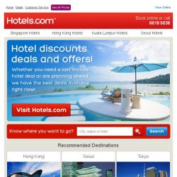 [Hotels.com] ☞ Thousands of deals updated daily - Book now!
