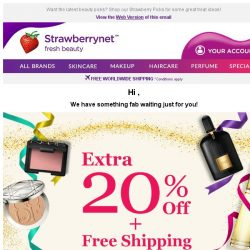 [StrawberryNet] Your Offer is Almost History, ! Extra 20% Off Ends Tomorrow!