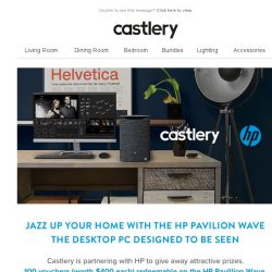 [Castlery] Spend and stand a chance to win a HP Pavillion Wave!