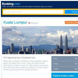 [Booking.com] Last-minute deals from S$ 13 in and around Kuala Lumpur