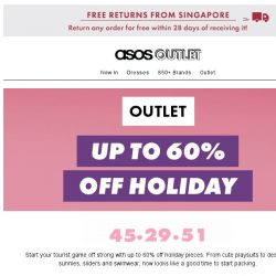 [ASOS] Up to 60% off holiday bits – pack your bags!