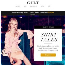 """[Gilt] Under $100: Reworked Shirting = Your New Shirt """"Tale"""""""
