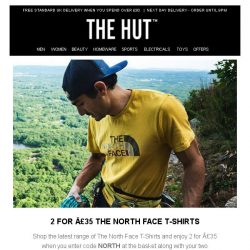 [The Hut] 2 for £35 The North Face T-Shirts | 20% off Clarks | 10% off LEGO and more...