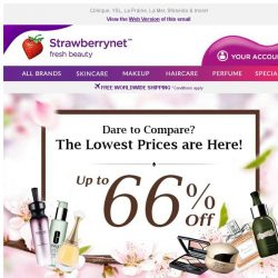 [StrawberryNet] Dare to Compare? The Lowest Prices Here are Up to 66% Off!