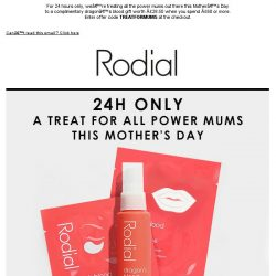 [RODIAL] Celebrate Mother's Day With A Free Dragon's Blood Gift Worth £28.50