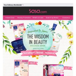 [SaSa ] 【Originated in Japan】HOT BEAUTY PRODUCTS!