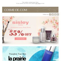 [COSME-DE.com] Selected Skincare Products Up to 50% off: La Prairie, Sisley, and More