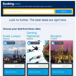 [Booking.com] Last-minute deals from S$ 19 in and around Kuala Lumpur