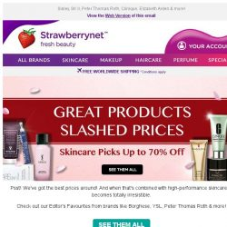 [StrawberryNet] Great Products. Slashed Prices. Best Skincare Picks Up to 70% Off