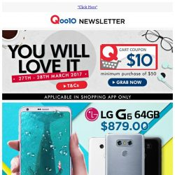 [Qoo10] [Grab $10 Coupon] LG, SAMSUNG - The Newest G6 Phone, Memory Card