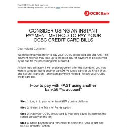 [OCBC] OCBC Bank - More timely ways to pay your OCBC credit card bills