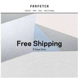 [Farfetch] [Free Shipping for Bargainqueen] 3 days only
