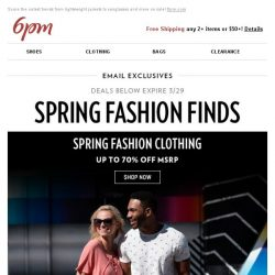 [6pm] Spring fashions you want (& need) on sale!
