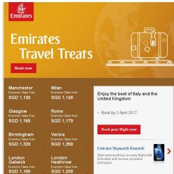[Emirates] Emirates month-end Travel Treats