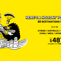 FlyScoot: Flash Sale on 20 Destinations with All-in Fares from SGD48!