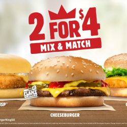 Burger King: Mix and Match 2 Burgers for only $4!