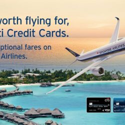 Singapore Airlines: Exceptional Fares from $168 with Citi Credit Cards