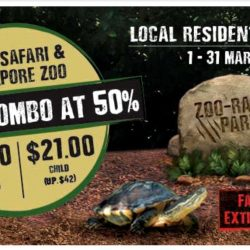 Singapore Zoo/River Safari: Enjoy 50% OFF Admission Tickets when You Visit Both in March!