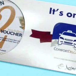 ComfortDelGro: Collect FREE $2 Taxi Vouchers at The Centrepoint This Weekend!