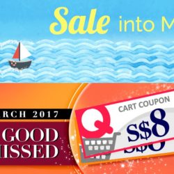 Qoo10: Sale into March~ $8 Coupons & More Exciting Deals!
