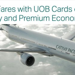 Cathay Pacific: Special Economy Class Fares from $188 All-Inclusive with UOB Cards