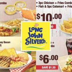 Long John Silver's: 20 e-Coupons to Save Up to $4.30!