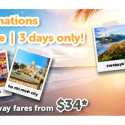 Tigerair: 3-Day Flash Sale to 35 Destinations with All-In One-way Fares from $34!