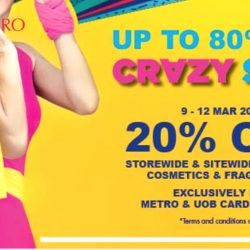 Metro: Never Before Up to 80% OFF Crazy Sale + 20% OFF Storewide & Sitewide Including Cosmetics & Fragrances