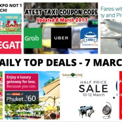 BQ's Daily Top Deals: Latest GrabTaxi Coupon Code, Cathay Pacific Exclusive Fares with UOB Cards, Top Events at Singapore Expo in March & More!
