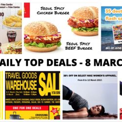 BQ's Daily Top Deals: NEW Long John Silver's e-Coupons, Tigerair Flash Sale, Metro Crazy Sale, McDonald's NEW Seoul Spicy Burgers, Tai Seng Travel Goods Warehouse Sale & More!
