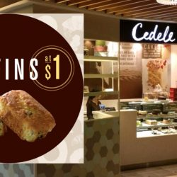 Cedele: Enjoy a Muffin for only $1 when You Like Their FB Page!