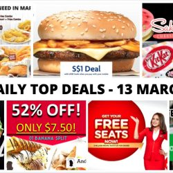 BQ's Daily Top Deals: Latest Taxi Coupon Codes & Dining e-Coupons, $1 Burger King Mushroom Swiss Burger, 1-for-1 Matcha Soft Cream, AirAsia's FREE Seats, Sakura Creations & More!