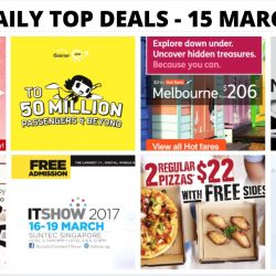 BQ's Daily Top Deals: Scoot/Tigerair 50 Million Pax Sale, KFC's NEW Oishiok Sampler Set Coupon, 1-for-1 Ramen, IT Show 2017, Crocodile Showroom Moving Out Sale & More!