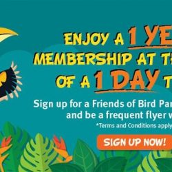 Jurong Bird Park: Enjoy 1 Year Membership at the Price of a 1 Day Ticket!
