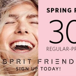 Esprit: Spring Preview 30% OFF Regular-Priced Items for Esprit Friends!