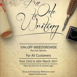 [Books Kinokuniya] Enjoy 10% off WEBSTOREWIDE plus FREE DELIVERY exclusively at Kinokuniya Webstore from 23rd to 26th March in An Ode To