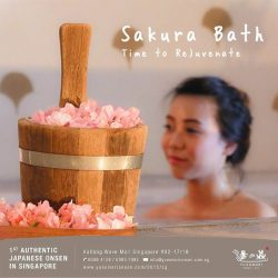 [Yunomori Onsen and Spa] Rejuvenate your body and soul with our Sakura bath today!