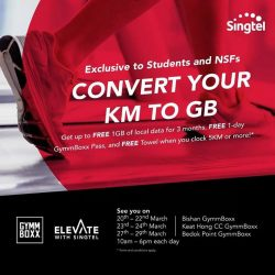 [GYMM BOXX Silver] Singtel X GYMMBOXXExclusive for Students and NSFs: Join us at GymmBoxx Bishan, Keat Hong CC or Bedok Point outlets