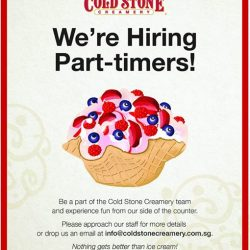 [Cold Stone Creamery] We're looking for part-timers!